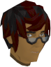 Half-moon spectacles (black) chathead