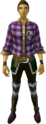 Purple checkered shirt equipped.png
