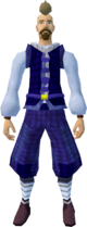 Blue elegant clothing equipped (male)
