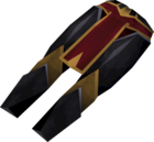 Elite black platelegs detail