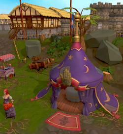 Fortune teller's tent
