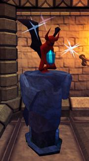 Jade statuette plinth