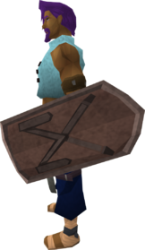 Basic decorative shield equipped