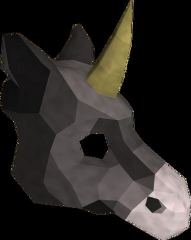 File:Black unicorn mask detail.png