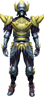 Gemstone armour equipped