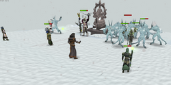 Ice demon battle