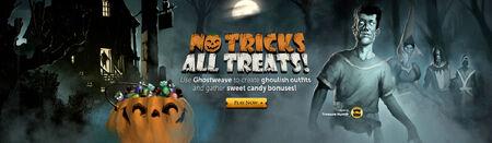 No Tricks All Treats head banner