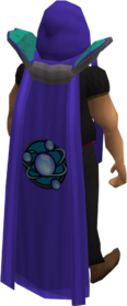 Retro divination cape equipped