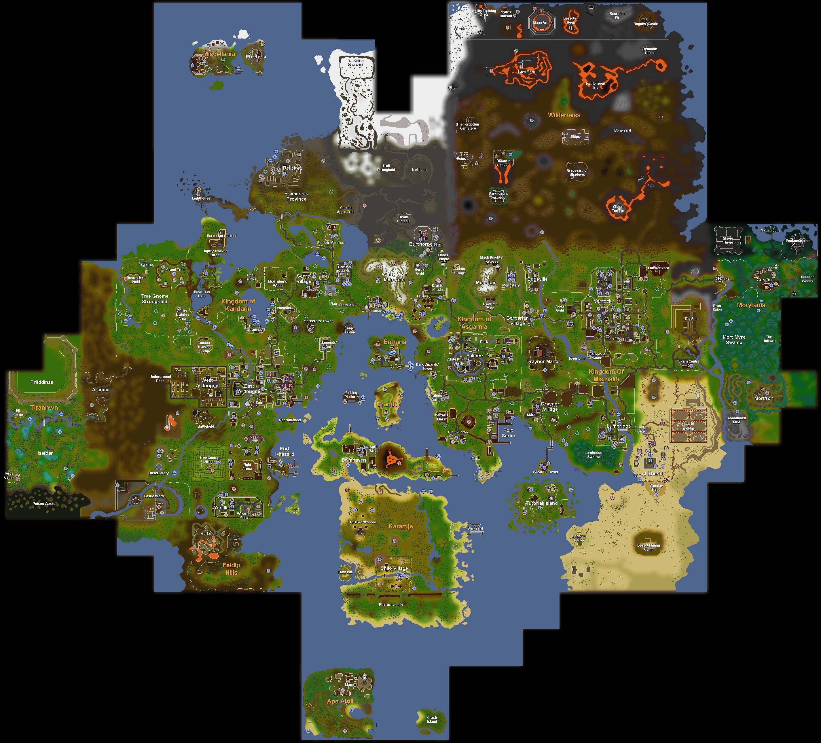 Graphical Updates World Map Runescape Wiki Fandom