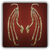 Skeletal wings icon