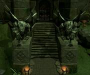 Slayer Tower Gargoyle statues