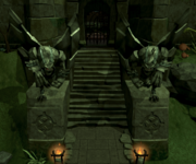 Slayer Tower Gargoyle statues