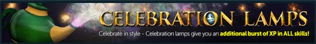Celebration lamps banner