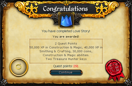 Love Story reward