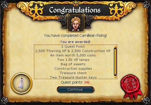 Carnillean Rising reward