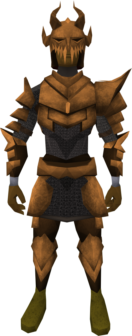 Corrupt dragon set (lg) equipped