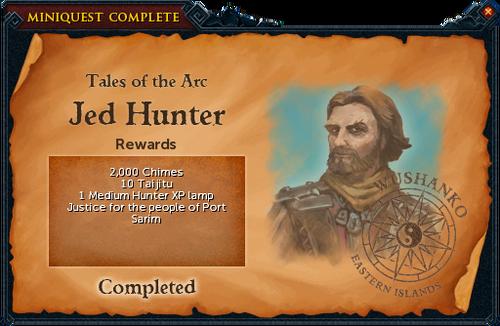 Jed Hunter reward