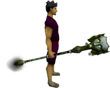 Staff of Sliske (barrows) equipped
