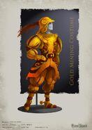 Golden mining suit concept art