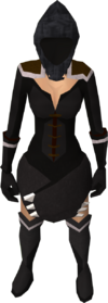 Grim reaper hood (female) equipped