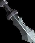 Iron ceremonial sword III detail
