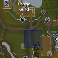 Mysterious statue (Fishing Guild) location