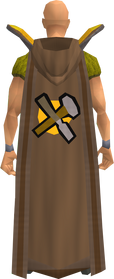 Retro hooded crafting cape equipped