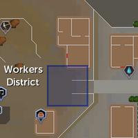 Soul obelisk (Worker district) location