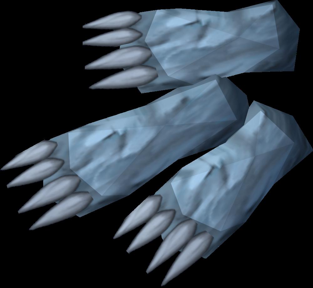 Spirit wolf paws detail