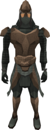 Stegoleather armour (male) equipped