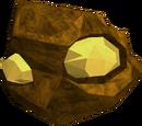 Gold ore rocks