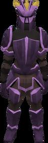 Novite plate armour set (lg) (female) equipped