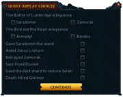 Sliske's Endgame quest replay options