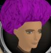 Violet afro chathead