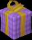 Big Christmas present (purple) detail