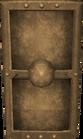 Bronze sq shield detail