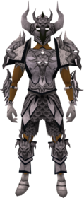 Malevolent armour set (Third Age) equipped