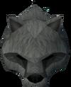 Werewolf mask (grey, male) detail