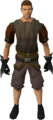 Black spiky vambraces equipped.png