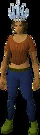 Chompy bird hat (ogre expert) equipped