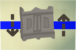 Gilded magic wardrobe (flatpack) detail