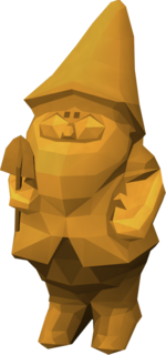 Golden gnome pet