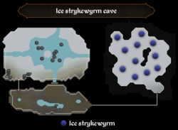 Ice strykewyrm cave map