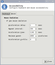 Mouse Keys Setup- Linux (Xfce)