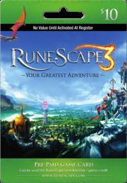 RuneScape 10 USD Prepaid Card