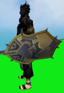 Shield of Spades equipped