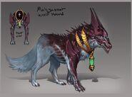 Abyssal hound concept art