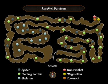 Ape Atoll Dungeon map