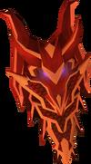 Escudo ogival dragônico detalhe