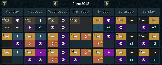In-game Calendar update post header